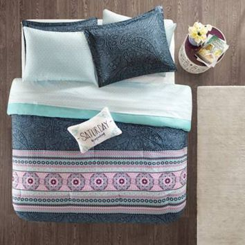 Intelligent Design Gemma Comforter Set in Blue