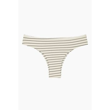 Rocky Brazilian Bikini Bottom - Coastal Stripe Print