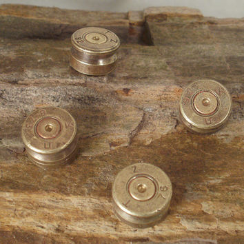 Bullet Refrigerator Magnets  Set of 4  Fridge  by ShellsNStuff