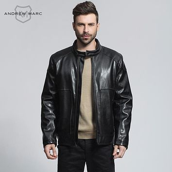 Men Leather Suede Jackets Coat Standing Collar Fashion Outwear Faux Leather Coats