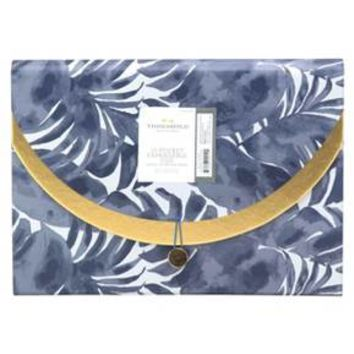 Expandable File Folder, 13pkt, Blue Palm and Gold - Threshold™ : Target