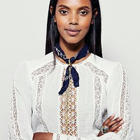 Free People Womens Bandana Bolo Necklace