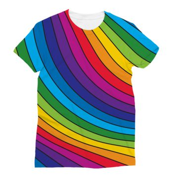 Rainbow Stripes Subli Sublimation T-Shirt
