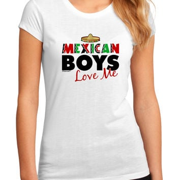Mexican Boys Love Me Juniors Petite Sublimate Tee