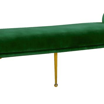 Owen Green Velvet Bench
