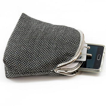 Clutch Wallet - Double Coin Purse with cards slot