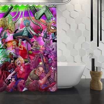 Rick and Morty Shower Curtain for Bathroom