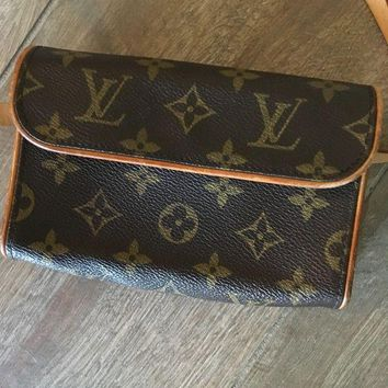 DCCKLO8 Louis Vuitton Monogram Canvas Pochette Women's Fanny Pack Waist Belt Bag Purse