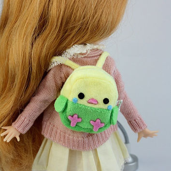 Little Chick Back Pack | Blythe Bags | Doll Accessories | JerryBerry, Dal, Pullip , AZONE S, Momoko, Lati Yellow, Pukifee
