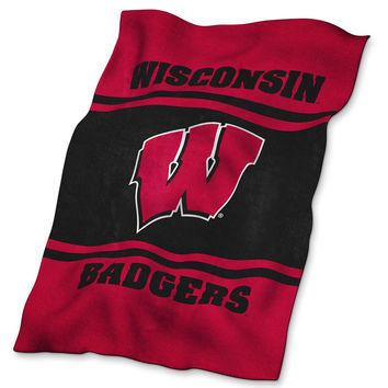 Wisconsin Badgers NCAA UltraSoft Blanket