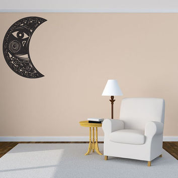 Decal Abstract Decorative Floral Moon Room Wall Vinyl Sticker Decal Art Decor 1384