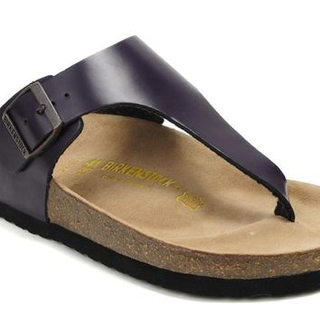 Birkenstock Como Sandals Leather Deep-purple - Ready Stock