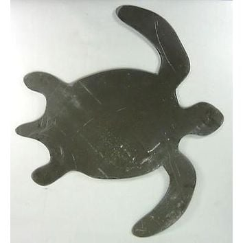 "Blank Steel 24"" Sea Turtle for Painters decor nautical wall art hanging craft"