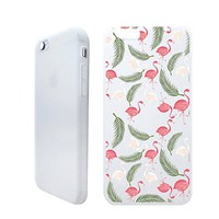 Flamingo Tropical Folwer Summer Beach Holiday Rubber Jelly Matt White Plastic Phone Case for Iphone_ SUPERTRAMPshop (VAS1387, iphone 6)