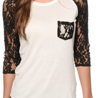 Empyre Dana Black Lace Pocket Top