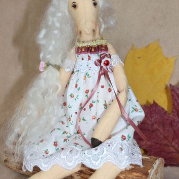 Cute fabric horse, Soft textile doll horse, autumn finds, gift idea, november, Back To School, Autumn Fall Celebrations, white
