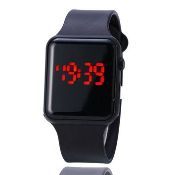 Hot new female student LED Digital watch Men Women single male Silicone watches movement running Bracelet Relogios masculinos