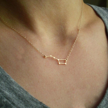 Big Dipper Constellation Necklace -  Delicate 14k Gold Filled or Sterling Silver