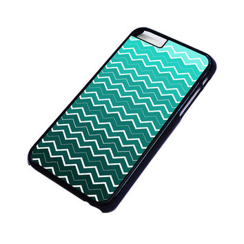 OMBRE TEAL CHEVRON Pattern iPhone 4/4S 5/5S 5C 6 6S Plus Case Cover