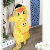 FAD Cartoon Baby Kids Toddler Boy Girl Hooded Rain Coat Raincoat Jacket New HU