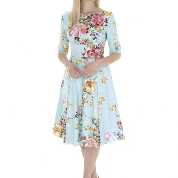 The Pretty Dress Company Hepburn Seville Print Dress