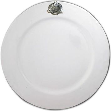 Equestrian Horseshoe Stoneware Charger Plate