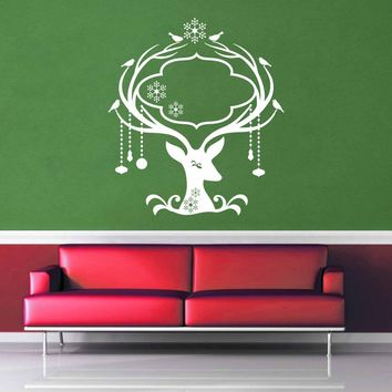 Deer - Christmas Decoration - Wall Decal - No 1$8.95