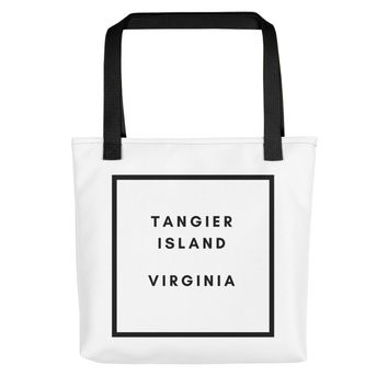 "Tangier Island, Virginia ""County Square"" Tote Bag"