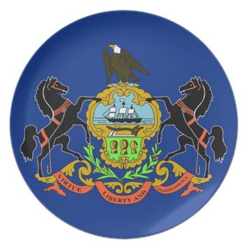 Pennsylvania State Flag Plate