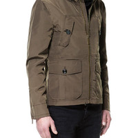 JACKET WITH FAUX LEATHER COLLAR - Jackets - Man - ZARA United States