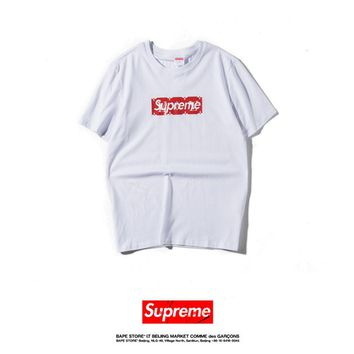 Cheap Women's and men's supreme t shirt for sale 85902898_0107