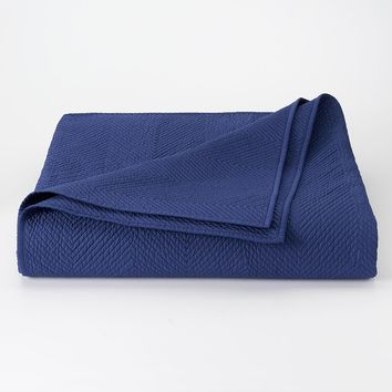 Chaps Home Beekman Place Percale Coverlet (Blue)