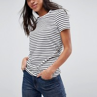 ASOS Stripe Crew Neck T-Shirt at asos.com
