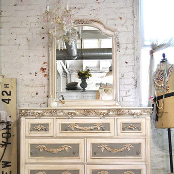 Painted Cottage Chic Shabby Romantic French Dresser CHARDR