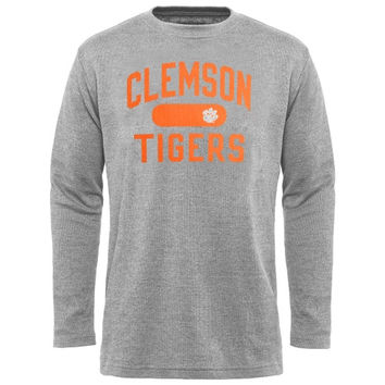 Clemson Tigers Straight Out Long Sleeve Thermal T-Shirt - Gray