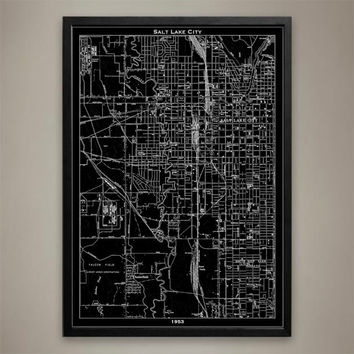 Map Print, SALT LAKE CITY