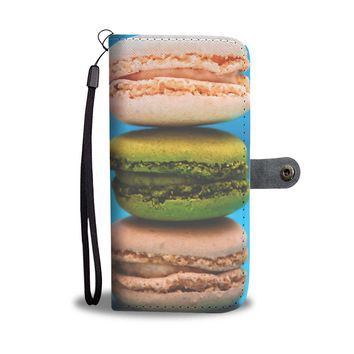 French Macaron Phone Wallet Case