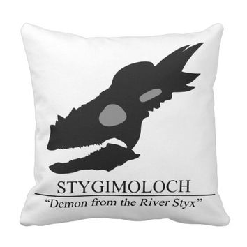 Stygimoloch Skull Throw Pillow