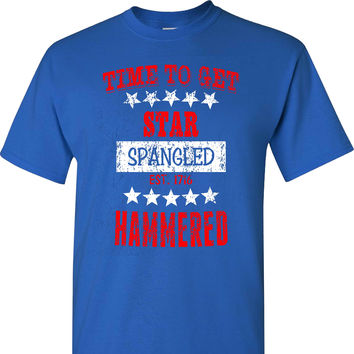 Time to get Star Spangled Hammered on a Blue T Shirt
