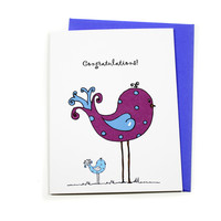 Baby Congratulations Card - New Mom Congats - Baby Shower Card