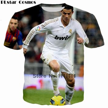 PLstar Cosmos 2017 Cool Design Star CR7 Cristiano Ronaldo CR 3D Print T shirt Women/Men Casual tshirt Kids T-shirt Tops Size 5XL