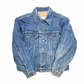 Levi's Jean Jacket Size 48 Made in USA, Levi's Denim Trucker