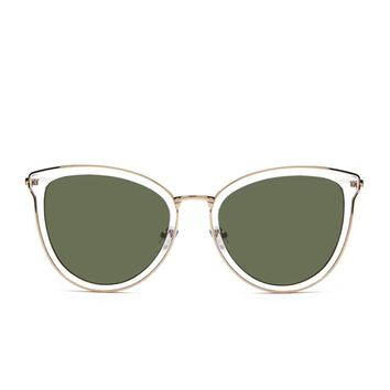 Mock Cutout Cateye Sunglasses