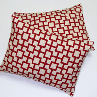 Pillow.Red.ONE.12x16 or 12x18 inch Decorator Lumbar Pillow Cover
