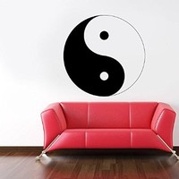 Wall Decal Vinyl Sticker Moon Mandala Yin and Yang Bedroom Dorm Living Room B223