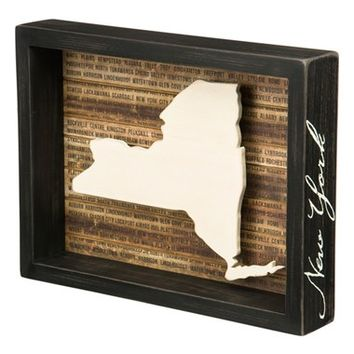 Primitives by Kathy State Silhouette Wooden Box Sign | Nordstrom