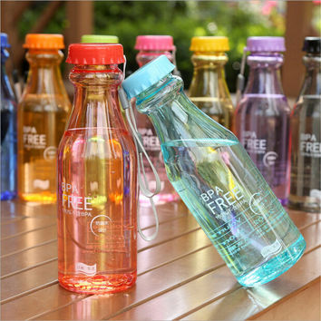 550ML Outdoor Sports Travel Water Bottle Portable Cycling Camping Water Cup - Candy colors