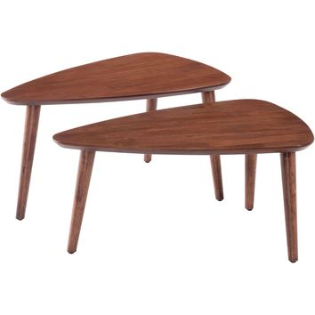 Koah Nesting Coffee Tables, Walnut