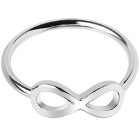 Silver Tone Infinity Mid Finger Ring - Size 3 | Body Candy Body Jewelry