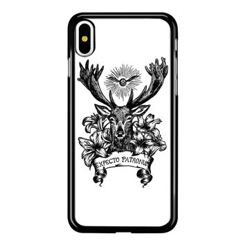 Expecto Patronum Spell Magical Harry Potter White iPhone X Case